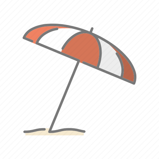 beach umbrella, climate, meteorology, parasol, summer, sunny, weather icon