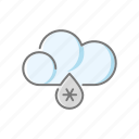 climate, cloud, meteorology, rain, sleet, snow, weather icon
