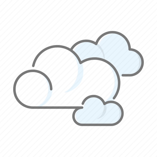 climate, clouds, cloudy, meteorology, overcast, weather icon