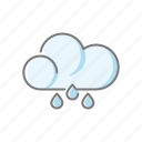 climate, cloud, meteorology, rain, rain drops, rainy, weather icon