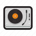 record, player, album, turntable, dj