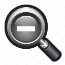 zoom, zoom out, magnifying glass, lens, magnify, reduce