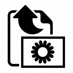 arrow, export, image, upload icon