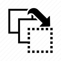 arrow, front, move icon