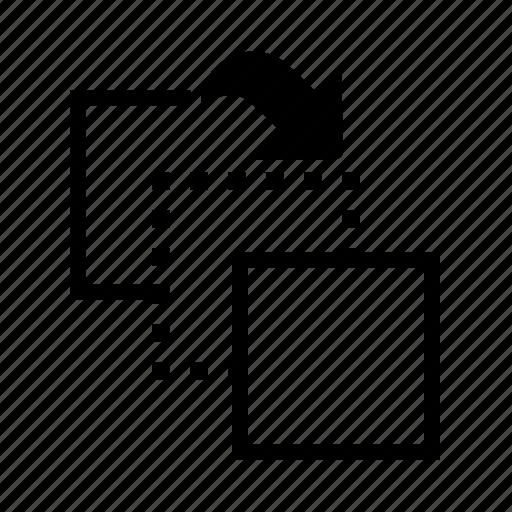 arrow, direction, forward, move icon
