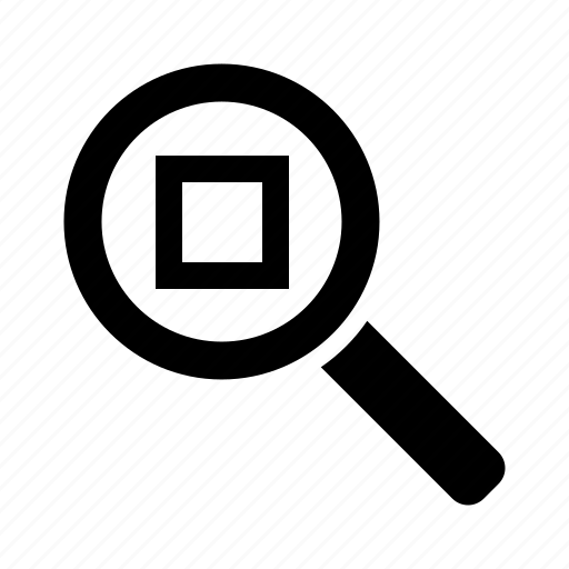 fit, glass, loupe, magnifier, zoom icon