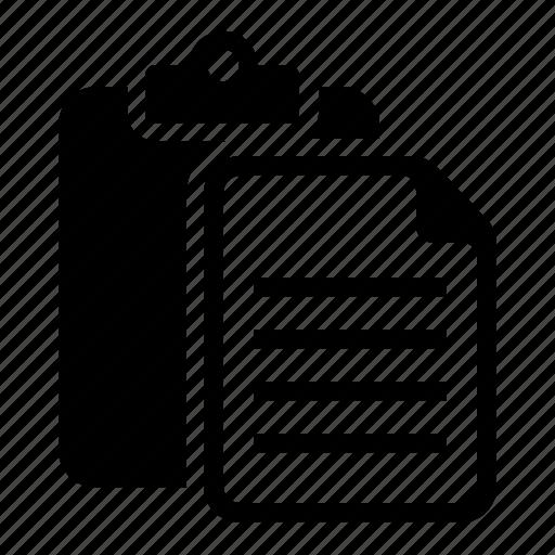 clipboard, document, file, paste icon
