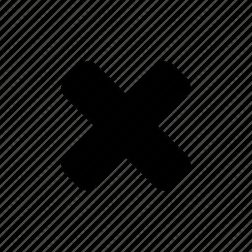 cross, delete, exclude, remove icon