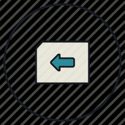 arrow, left, next icon