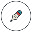 calligraphy, design, drawing, pen, tool, write icon