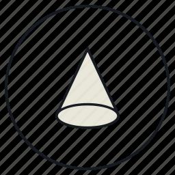cone, creative, shape icon