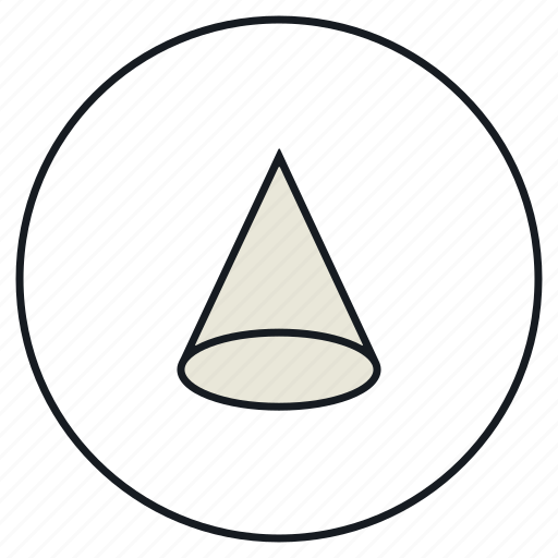 Types Of Cone Shapes: Cone, Creative, Shape Icon