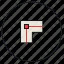 corner, path icon