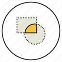 crop, shape icon