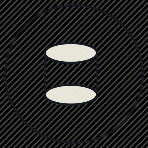 creative, cylindre, shape icon