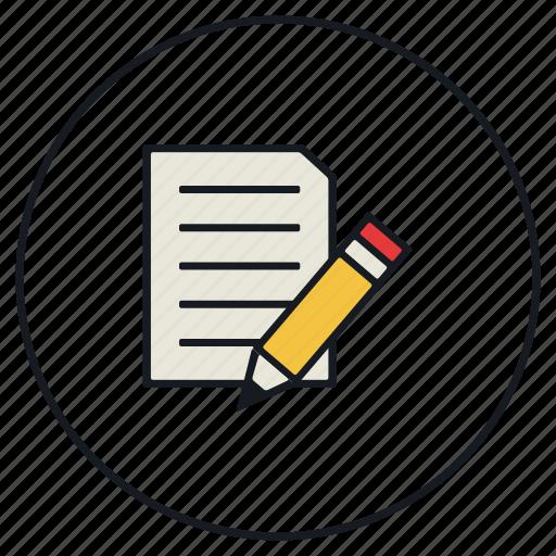 edit, paper, pen, write icon