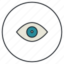 eye, eyesight, organ, sight, vision icon