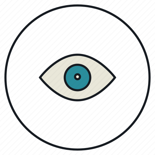 eye, eyesight, organ, sight, vision icon
