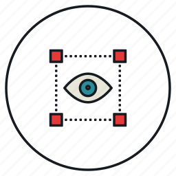 eye, eyesight, organ, selection, sight, vision icon