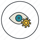 eye, eyesight, organ, setting, sight, vision icon