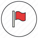 falgged, flag, report, win, winner icon