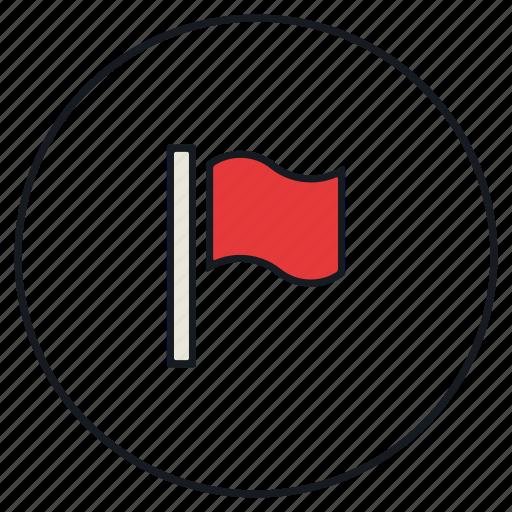 falgged, flag, report, win, winner icon