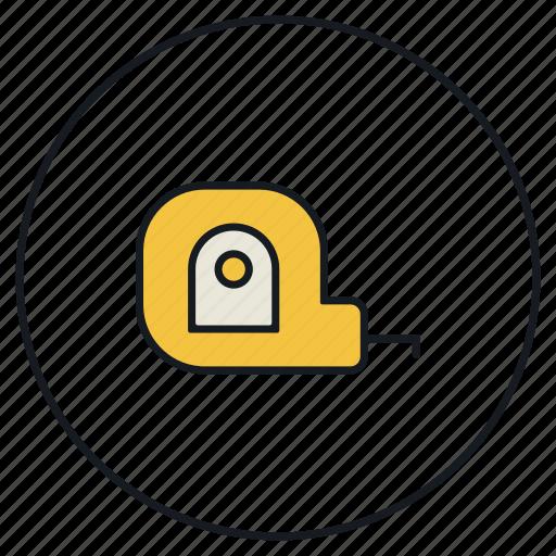 measure, measuring, tape, tool icon