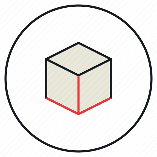 cube, iso, modeling, prespective, tool, view icon