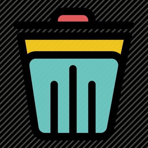 bin, clean, clear, delete, empty, recycle bin, tool icon