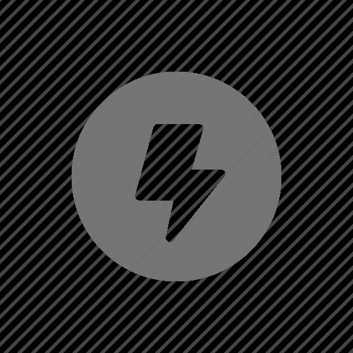 Lightning, thunderbolt, electricity, power, socket icon - Download on Iconfinder