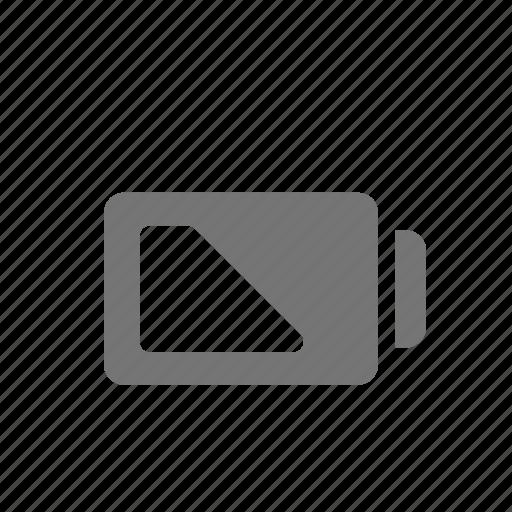 Battery, half, half power icon - Download on Iconfinder