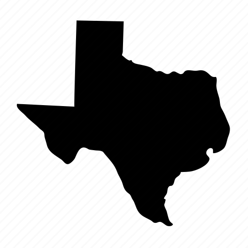 geography, map, state, texas, usa icon