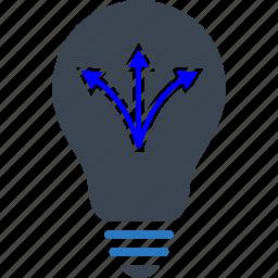 idea, multiple, strategy, way icon