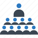 community, group, leader, teaching, training icon