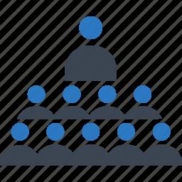 community, group, leader, teaching, training icon