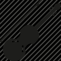 bow, instrument, music, sound, string instrument, viola, violin icon