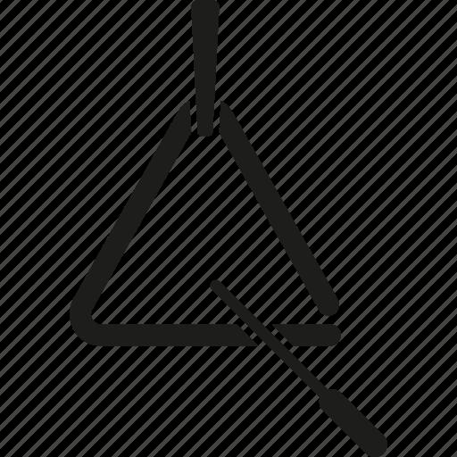 instrument, music, percussion, sound, triangle icon