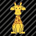africa, animal, giraffe, zoo icon