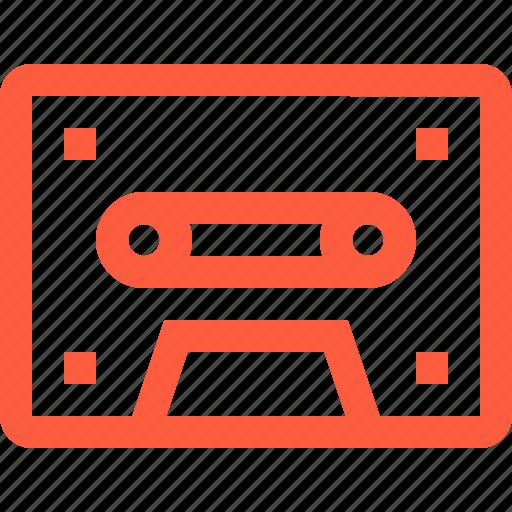 analog, audio, cassette, compact, record, retro, tape icon