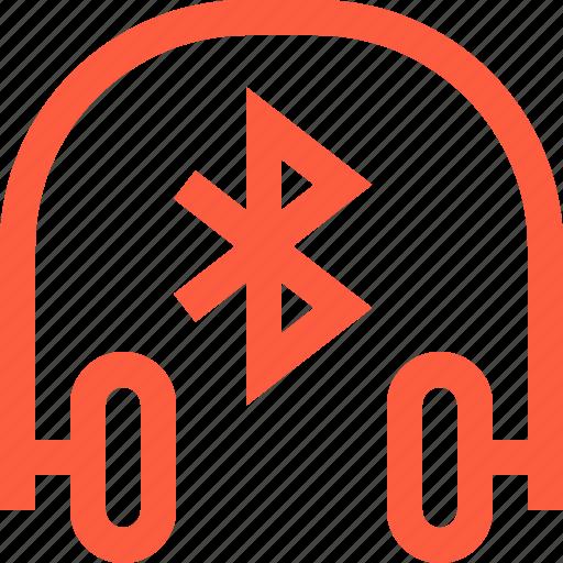 bluetooth, connection, earphones, equipment, headphones, wireless icon