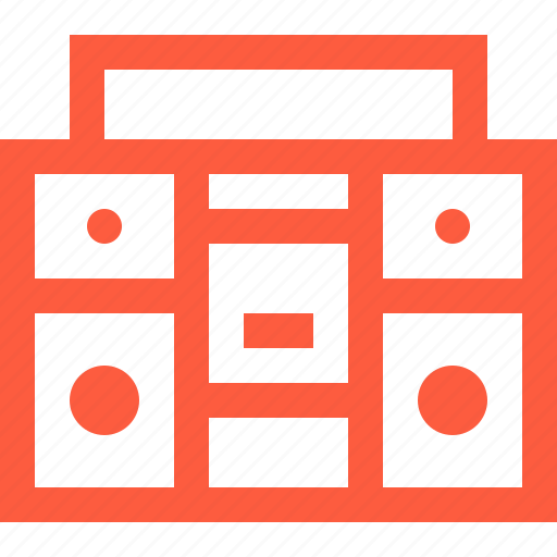 boombox, electronic, equipment, music, player, record, sound icon