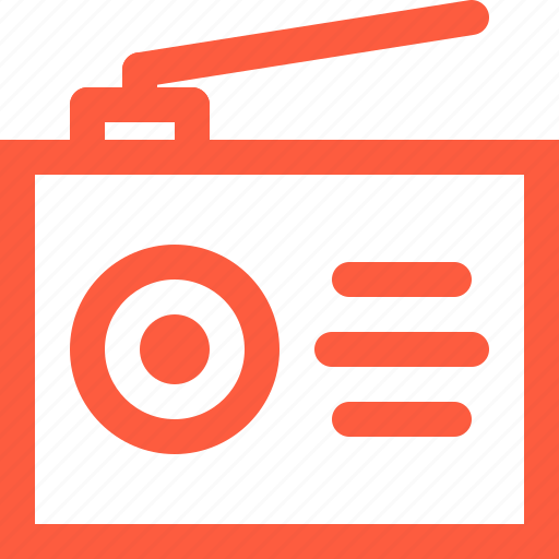 electronic, fm, gadget, music, portative, radio, receiver icon