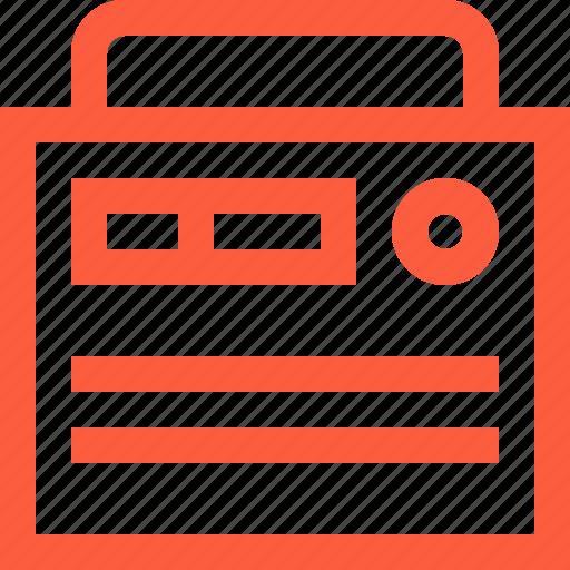 electronic, fm, gadget, music, portable, radio, receiver icon