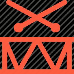 beat, drum, drumsticks, instrument, music, snare icon