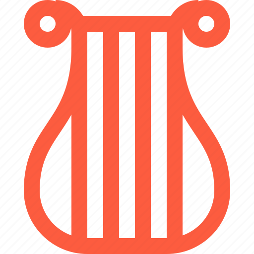cithara, harp, instrument, lyre, music, string icon