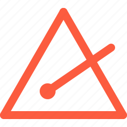 idiophone, instrument, music, percussion, triangle icon