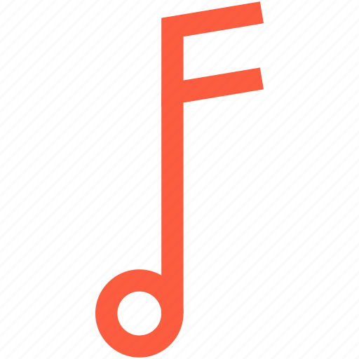 music, note, sign, single, sound, tone icon