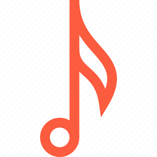 melody, music, note, sign, single, sound icon