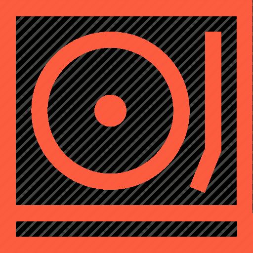 dj, instrument, player, record, turntable, vinyl icon