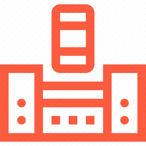 connection, mobile, phone, smartphone, sound, speaker, system icon